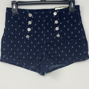 Women's Sz 5 Almost Famous Anchor Shorts NWT